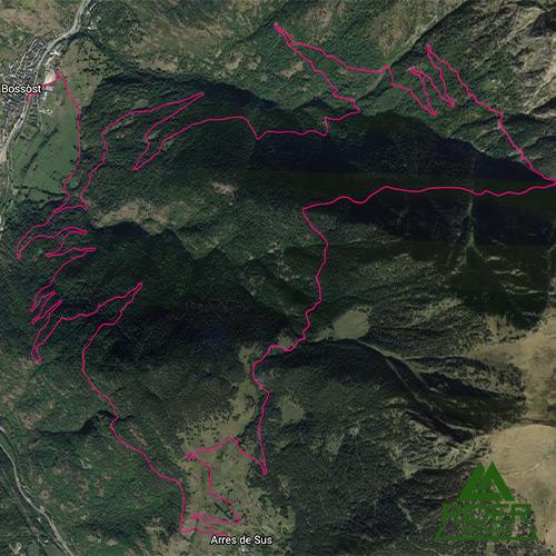 Ruta guiada bicicleta Margalida fácil Valle de Arán Bassa de Arres Minas Victoria